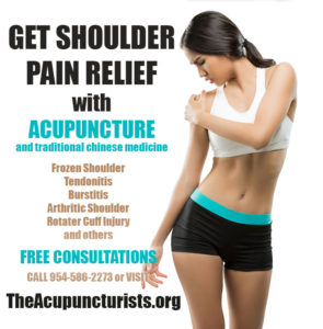 Acupuncture for Shoulder Pain in Margate, Coconut Creek and Coral Springs