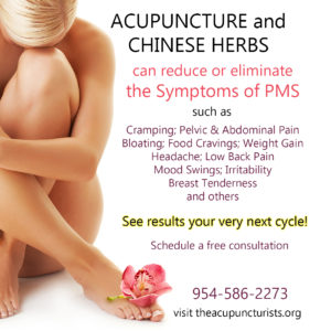 Acupuncture for PMS relief in Coral Springs Florida